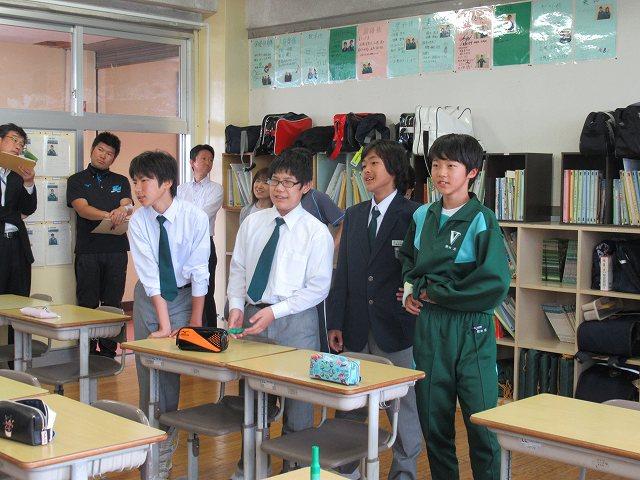 米沢市立第五中学校学級活動メニュー