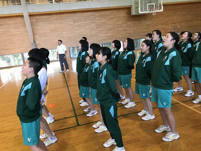 米沢市立第五中学校新人戦壮行式メニュー